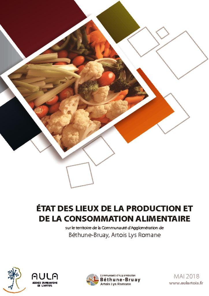 thumbnail of Etat des lieux de la production et de la consommation alimentaire sur le territoire de la Communauté d'Agglomération de Béthune-Bruay, Artois Lys Romane